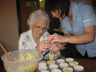 Daily Life at Home Baking - Camelot Care, Somerset